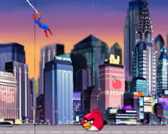 Spiderman save Angry Birds vicces j�t�kok